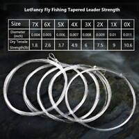 0 1 2 3 4 5 6 7X Fly Leader Pre-tied Loop Fly Fishing Tapered Leader Fly Line