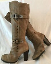 Moda In Pelle Brown Knee High Leather Beautiful Boots Size 38 (134v)