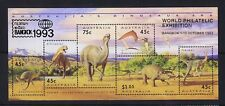 Australian Decimal Stamps 1993 Dinosaur Era Mini Sheet OP Bangkok MNH