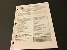 Arctic Cat Snowmobile Setup and Predelivery Instructions '92 Lynx Jag Cougar