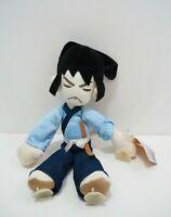 "Lupin The Third Goemon Ishikawa Banpresto 1996 Suction Cup Plush 11"" TAG Doll"
