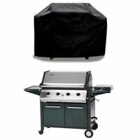 LARGE BBQ COVER UV Waterproof Barbecue Grill Protector Outdoor Use Plastic