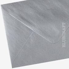 50 x A6 C6 Silver Metallic 100gsm  Envelopes 114 x 162mm - 6 x 4 inches