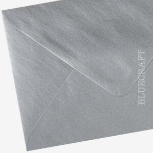 50 pack x C6 Silver Metallic 100gsm  Envelopes 114 x 162mm - 6 x 4 inches
