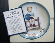 Mother's Little Athlete By Sister Berta Hummel Mother's Day Schmid Plate Coa Box