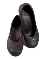 Crocs Womens Brown Captoe Platform Wedge Heels Size 9 Slip on Shoes
