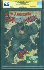 Amazing SPIDER MAN 41 CGC 2X SS 6.5 Stan Lee John Romita Sr Sign 1st Rhino 1966