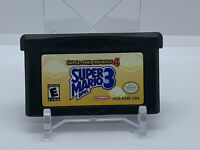 Super Mario Bros 3 Nintendo Gameboy Advance #4 Cleaned & TESTED Authentic GBA