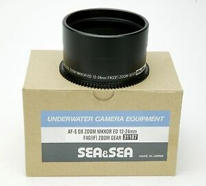Sea & Sea Lens Gear For Nikon AF-S DX Zoom Nikkor ED 12-24mm In Housing. NEW Box