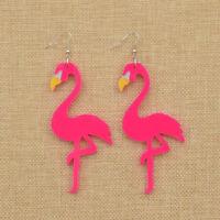 1 Pair Flamingo Bird Pendant Earrings Womens Jewellery Dangle Ear Stud Kawaii