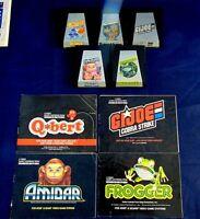 Atari 2600 Game Cartridge Lot Of 9 All Parker Brothers GI Joe Q-Bert Frogger +