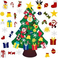 DIY Felt Christmas Tree with 30pcs Ornaments, Xmas Gifts for Kids New Year