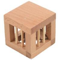 Square Mysterious Wooden Classic Genius Puzzles 3D Disentanglement PuzzlesT C4F6