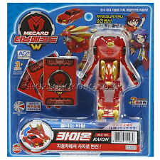 TURNING MECARD W KAION RED Transformer Transforming Car Lion Robot Toy Korean TV