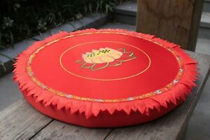 """23"""" Round Embroidery lotus meditation cushions Buddhist supplies Free Shipping"""