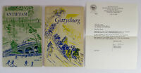 1961 GETTYSBURG Guide w/ LETTER ABT. CONGRESSMAN, Antietam souvenir handbook