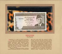 Most Treasured Banknotes Pakistan 1983 1 Rupee P-27d UNC prefix M/1*