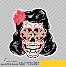 Mexican Skull Tattoo Floral Retro Vinyl Sticker Decal Window Car Van Bike 2066