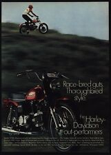 1969 HARLEY DAVIDSON SPRINT Motorcycle - Race Bred Guts - VINTAGE AD