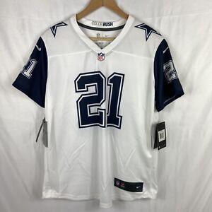 NWT Zeke Elliott Dallas Cowboys NFL Nike Women's Rush Legend Jersey - White Sz L