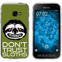 Silicone Case for Galaxy Xcover 4 Silicone Case Crazy Animals sloth M3  Cover