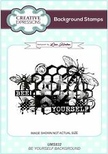 BEE YOURSELF BACKGROUND - Lisa Horton Cling Rubber Stamp / Creative Expressions