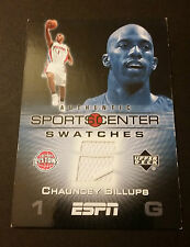 Chauncey Billups Nuggets Colorado 2005 Upper Deck ESPN Game Jersey Certified JG4