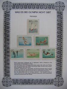 Irrtümer auf Briefmarken / Panama 1964 Mi 734 - 739 : Olympic Games 1964 Tokio