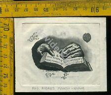 Ex Libris Antico Originale a 880 Alberto Peruzzi Verona