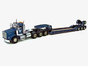 """Kenworth T800W Truck w/ 4 Axle Rogers Lowboy Trailer """"MILLER"""" 1/50 WSI #32-2000"""