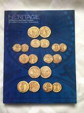RARE VINTAGE ANTIQUE CATALOG HERITAGE AUCTIONS FOR COINS COLLECTION WORLD 204p