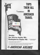 AMERICAN AIRLINES 1957 DC-7 NONSTOP ROYAL COACHMAN AIRCOACH TOPS THEM ALL AD