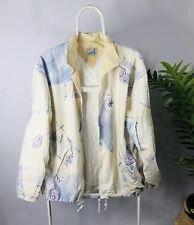 Jean Leduc Sport Women's Windbreaker Shellsuit Jacket Size 12 Vintage Festival