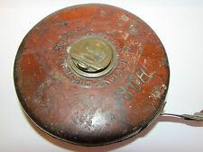 Rabone Chesterman Leather Tape Measure 66 FT Working Order