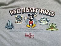 Vintage Walt Disney World 1928 Sleeveless Shirt Mens size M Gray Mickey Mouse