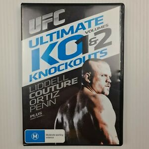 UFC Ultimate KO 1 & 2 Volumes Knockouts DVD - Liddell Couture -R4 - TRACKED POST