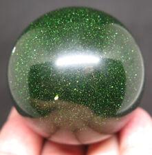 50mm 6.2OZ Green GOLDSTONE Crystal Sphere Ball