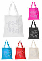 Trick or Treat halloween Tote bag party gift sweet bag fancy dress ghost bags