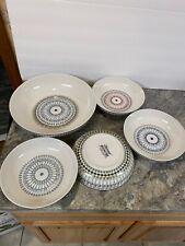 New listing 5 Pc Signature Designer Stoneware Pasta Bowl Set 12� & 8-1/2� Dishes (a)