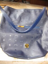 """Authentic  *MCM* - SHOPPER  """"SALLY"""" in  navy blue  ----  excellent  condition"""