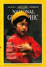 NATIONAL GEOGRAPHIC SEP 1981 SILVER MANHATTAN OMAN VIETNAMESE FISHERMEN NAHANNI