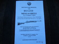 Ruger Mini-14  .223 5.56mm Rifle Instruction Manual 1988 HTF
