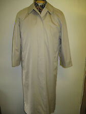 Genuine Burberry Prorsum Light Beige Cotton Raincoat Coat Mac Size UK 14 S