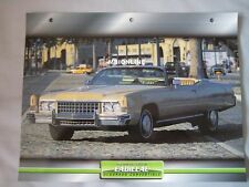 Cadillac Eldorado Convertible 1973 Dream Cars Card
