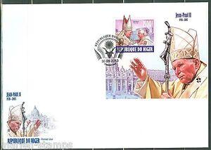 NIGER 2013 POPE JOHN PAUL II SOUVENIR SHEET FIRST DAY COVER