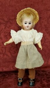 Antique German Bisque Head 12 inch Doll 40 R DEP E Brown Glass Set Eyes Beauty