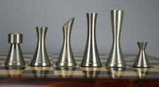 CHESSNCRAFTS BRASS STEEL SLEEK CHESS PIECES SET-COPPER SILVER- FREE SHIPPING