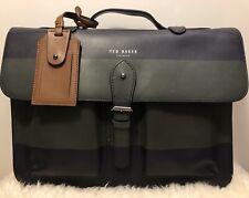 Ted Baker 'Leemer' Stripe Panel Satchel Bag Dark Blue/Green New