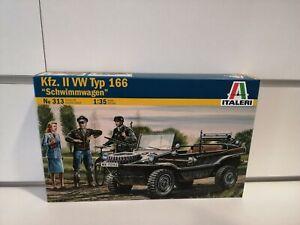 SCHWIMMWAGEN Volkswagen Kübelwagen autoveicolo militare kit 1-35 italeri 0313