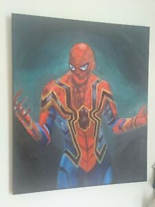 Marvel Spiderman Oil Painting On Canvas A2 fanart Avengers end game